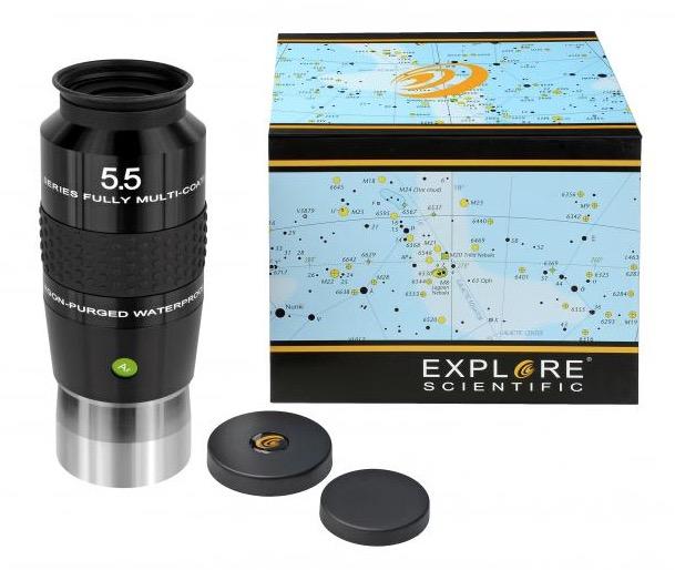 OculareExplore Scientific N2 conbarilotto da 50.8mm- campo apparente 100°- lunghezza focale 5.5mm