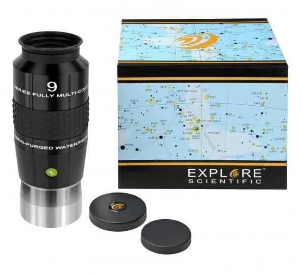 OculareExplore Scientific N2 conbarilotto da 50.8mm- campo apparente 100°- lunghezza focale 9mm