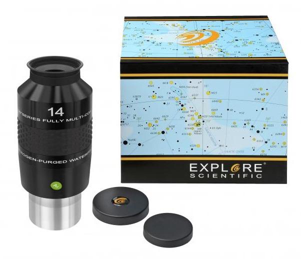 OculareExplore Scientific N2 conbarilotto da 50.8mm- campo apparente 100°- lunghezza focale 14mm