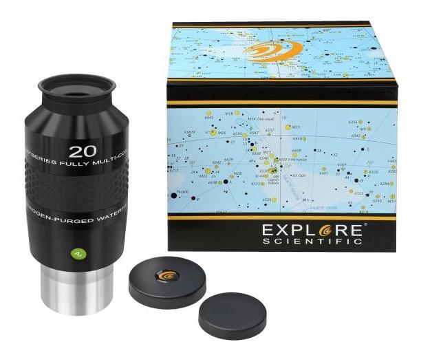 OculareExplore Scientific N2 conbarilotto da 50.8mm- campo apparente 100°- lunghezza focale 20mm