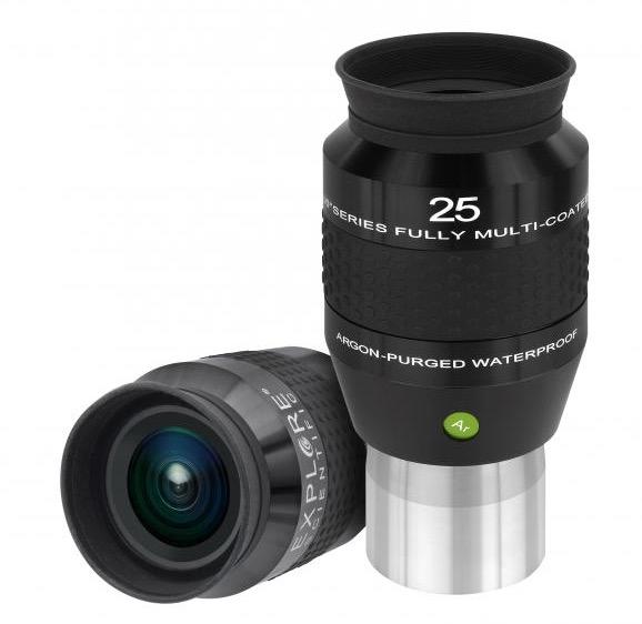OculareExplore Scientific N2 conbarilotto da 50.8mm- campo apparente 100°- lunghezza focale 25mm