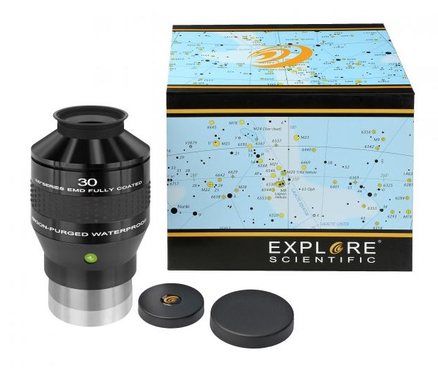 """OculareExplore Scientific Ar conbarilotto da 3"""" (76,2mm) - campo apparente 100°- lunghezza focale 30mm"""