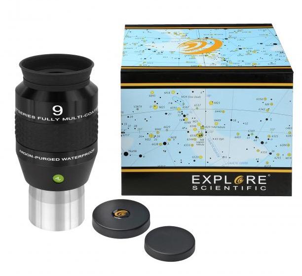 OculareExplore Scientific N2 conbarilotto da 50.8mm- campo apparente 120°- lunghezza focale 9mm
