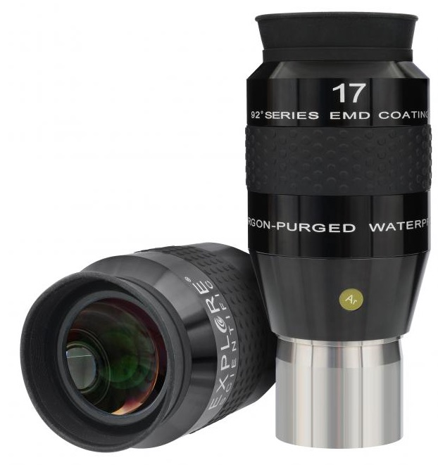 OculareExplore Scientific LER conbarilotto da 50.8mm- campo apparente 92°- lunghezza focale 17mm