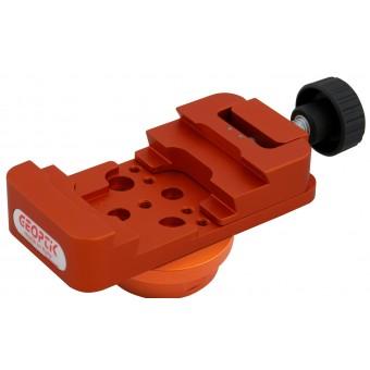 Morsetto Vixen Losmandy di colore arancione completo di flangia per montatura HEQ5