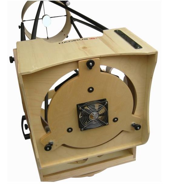 """Dobson Nadirus 16"""" 400/1500 (404mm) con base in legno.Questo kit non comprende lo specchio primario, il secondario, il focheggiatore ne il cercatore."""