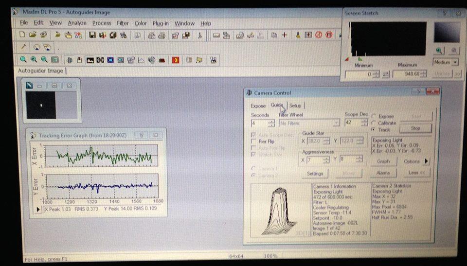 Grafico errore di tracking Skywatcher AZ EQ 5 GT Synscan con TS APO 81 Q e TSL60D