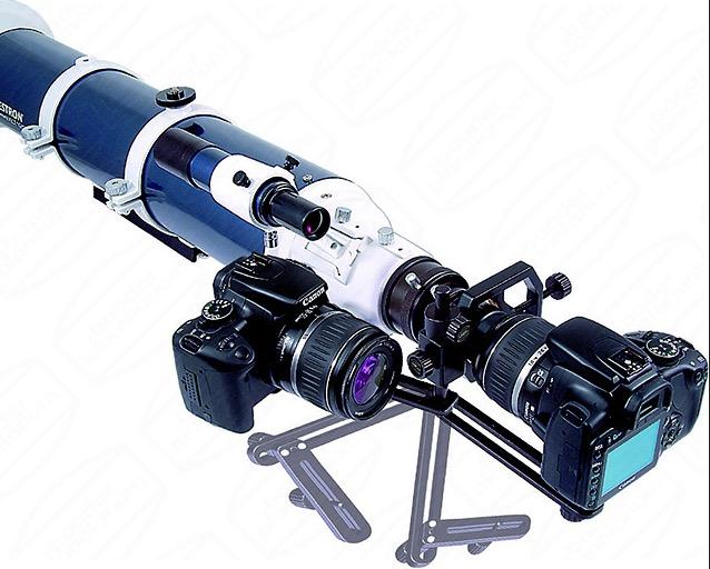 Adattatore fotografico Microstage II. Collega ad oculari con barilotto tipo Hyperion ogni fotocamera digitale per riprese con metodo afocale