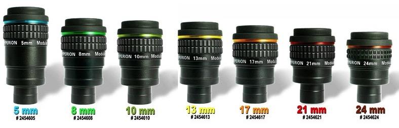 Oculari Hyperion set di 7 focali 5/8/10/13/17/21/24mm con valigia