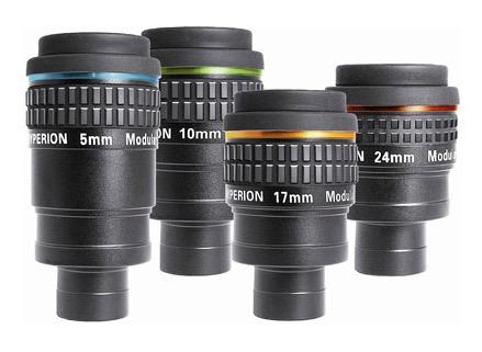 Starter Set di Oculari Hyperion di 4 focali 5/10/17/24mm con valigia e paraocchi gommato su ogni oculare