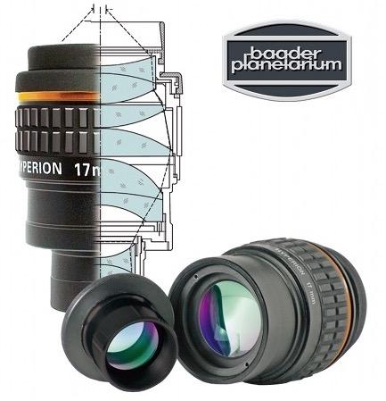 Baader Hyperion Oculare Grandangolare - Lunghezza focale 13 millimetri - barilotto da 31,8mm e 50,8mm - 68° di campo