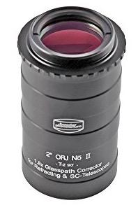 """Correttore ottico di tiraggio da 2"""" per telescopi rifrattori e SC. Fattore di amplificazione focale 1.8X, per torretta Maxbright (richiede diagonale T-2 #2456095)"""