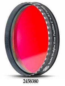 """Filtro H-alpha da 2"""" (50.8mm) di diametro, per CCD, con banda passante (FWHM) di 35nm, e cella a basso profilo"""