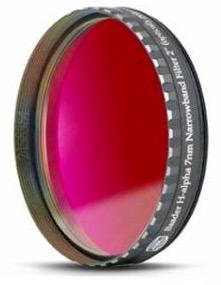 """Filtro H-alpha a banda stretta da 7nm FWHM, diametro 2"""" (50,8mm), per CCD, con cella a basso profilo"""
