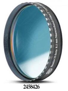 """Filtro H-beta a banda stretta da 8.5nm FWHM, diametro 2"""" (50.8mm), per CCD, con cella a basso profilo"""