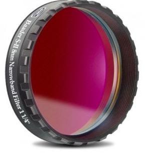 """Filtro SII a banda stretta da 8nm FWHM, diametro 1¼"""" (31.8mm), per CCD, con cella a basso profilo"""