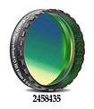 """Filtro OIII a banda stretta da 8.5nm FWHM, diametro 1¼"""" (31.8mm), per CCD, con cella a basso profilo"""