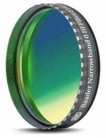 """Filtro OIII a banda stretta da 8.5nm FWHM, diametro 2"""" (50.8mm), per CCD, con cella a basso profilo"""