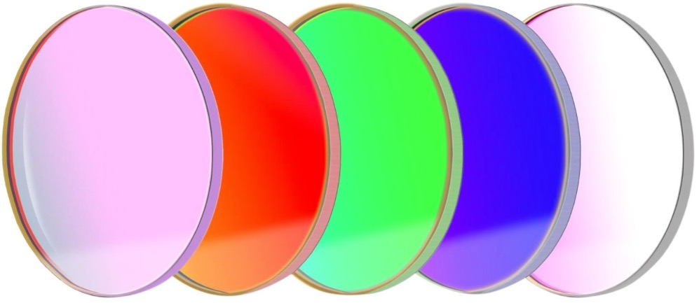 Set di filtri LRGBC parafocali da 50.4mm, per CCD, senza celle (spessore vetro 3mm)