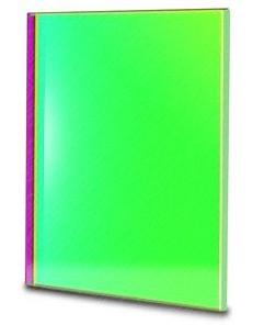 Filtro G (Verde) quadrato da 65x65mm, per CCD, senza cella (spessore vetro 3mm)