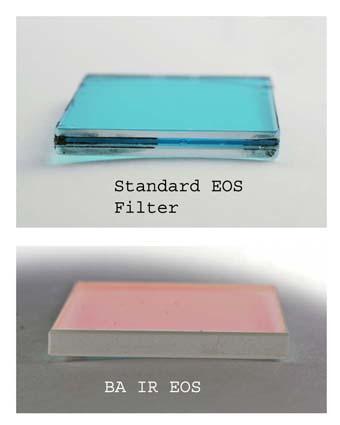 Filtro IR-cut sostitutivo ( Baader-ACF 1 ) per reflex Canon EOS 300D, con trasmissione spettrale migliorata