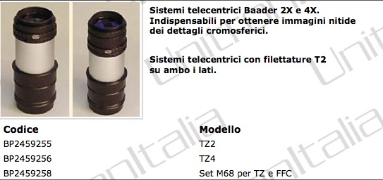Barlow Telecentrica 2x - System TZ 2 (with T-2 threads)