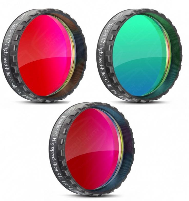 Set Filtri f/2 Highspeed H-alpha, O III, S II da 31.8mm, LPFC