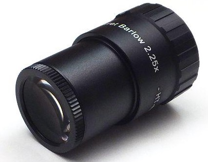 Q-Barlow 2.25x (HT-multicoated) di qualità da 31,8mm e capace di 1.3x e 2,25x