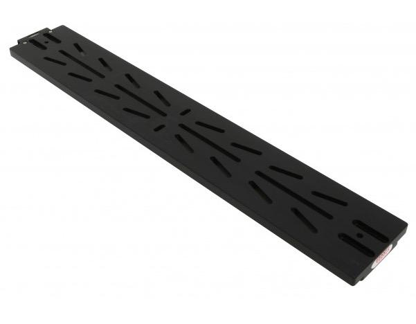 Slitta coda di rondine tipo Losmandy 610 mm con asole e bolla di livello di colore nero