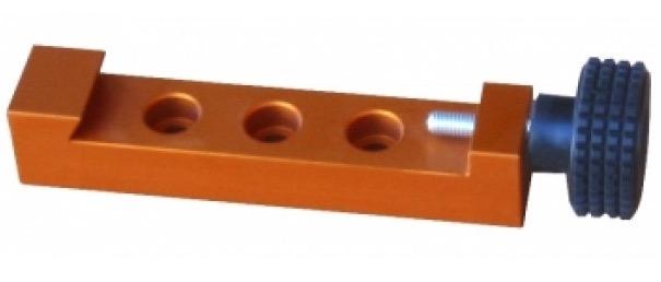 Morsetto Losmandy con chiusura a vite singola di colore arancione