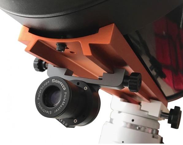 Supporto in alluminio anodizzato per camera di allineamento polare QHY Polemaster