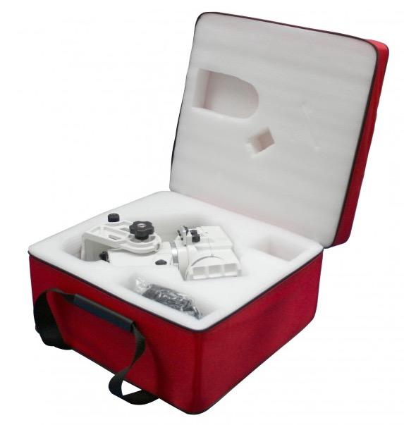 La borsa imbottita Geoptik è stata creata per trasportare e proteggere la vostra montatura AZ-EQ6.