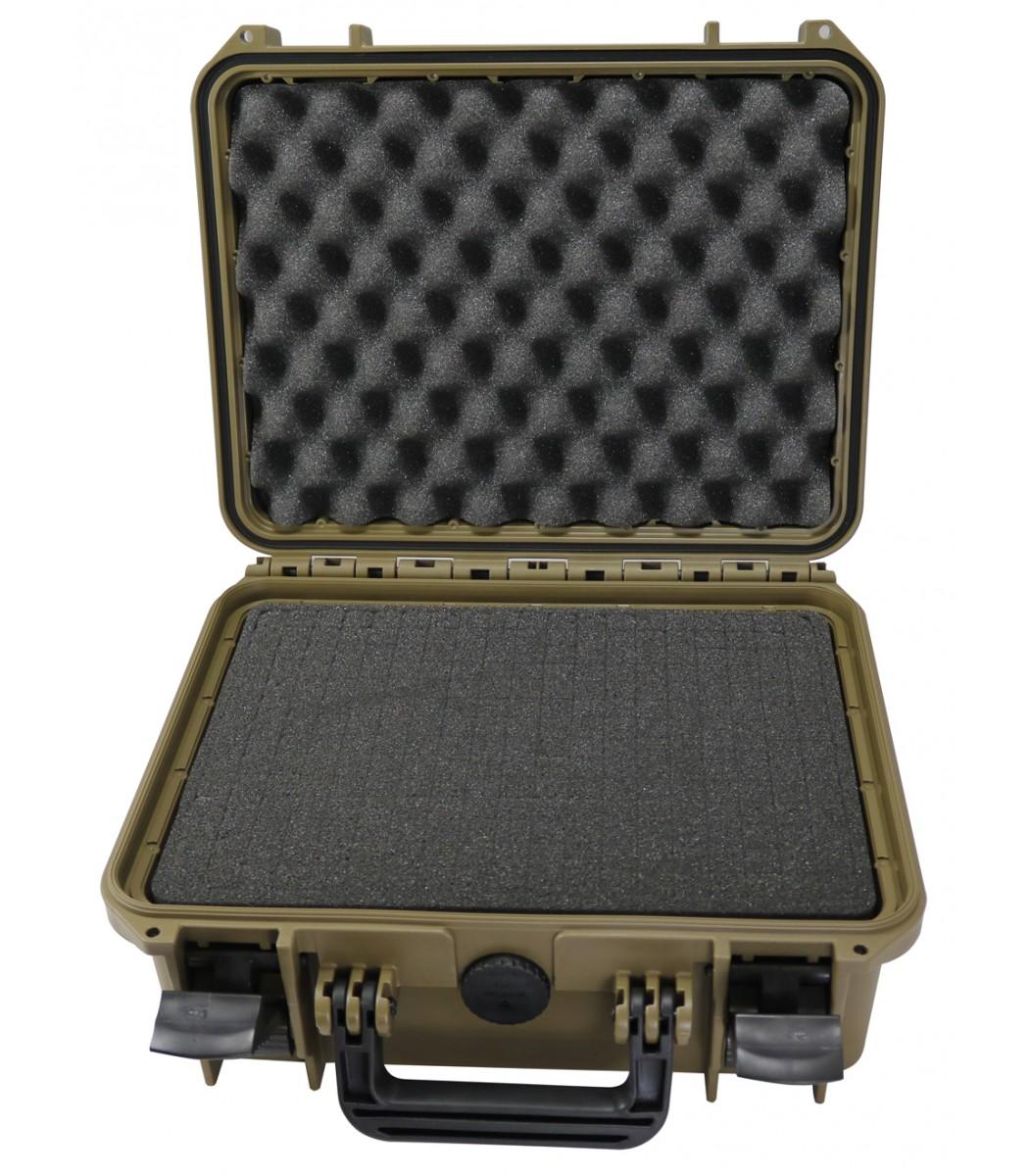 Valigia Ermetica Elephant Case Verde Media, spugne comprese. Dimensioni interne : 430 x 290 x 160 mm