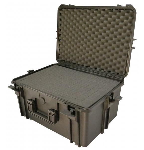 Valigia Ermetica Elephant Case Alta, spugne comprese. Dimensioni: 505 x 340 x 275 mm