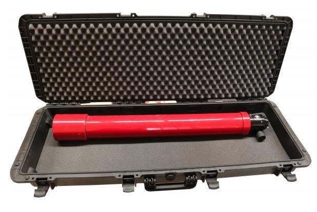 Valigia Ermetica, spugne cubettate comprese. Dimensioni interne : 1100 x 370 x H140 mm