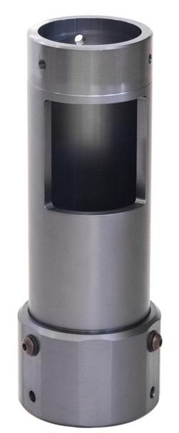Prolunga in alluminio con flangia di connessione alla colonna