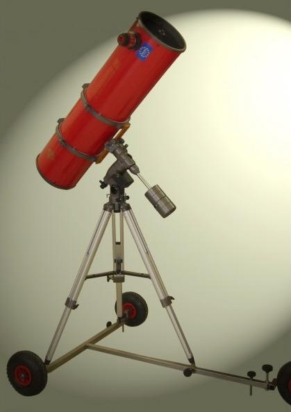 Carrello in acciaio inox per il trasporto di telescopi anche di grandi dimensioni