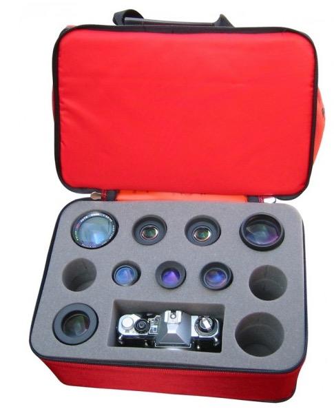 Borsa imbottita per il trasporto di accessori astronomici e fotografici - dimensioni 23x33x38 cm