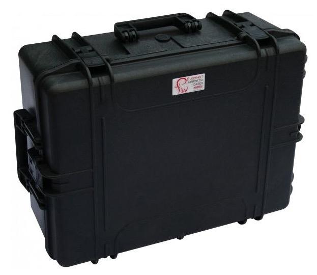 Valigia Ermetica Elephant Case modello Giga, spugne comprese, per riporre solo la testa della montatura EQ6. Dimensioni interne : 540 x 405 x 190 mm