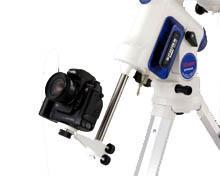 Adattatore per fotocamera collegato all'asta del contrappeso