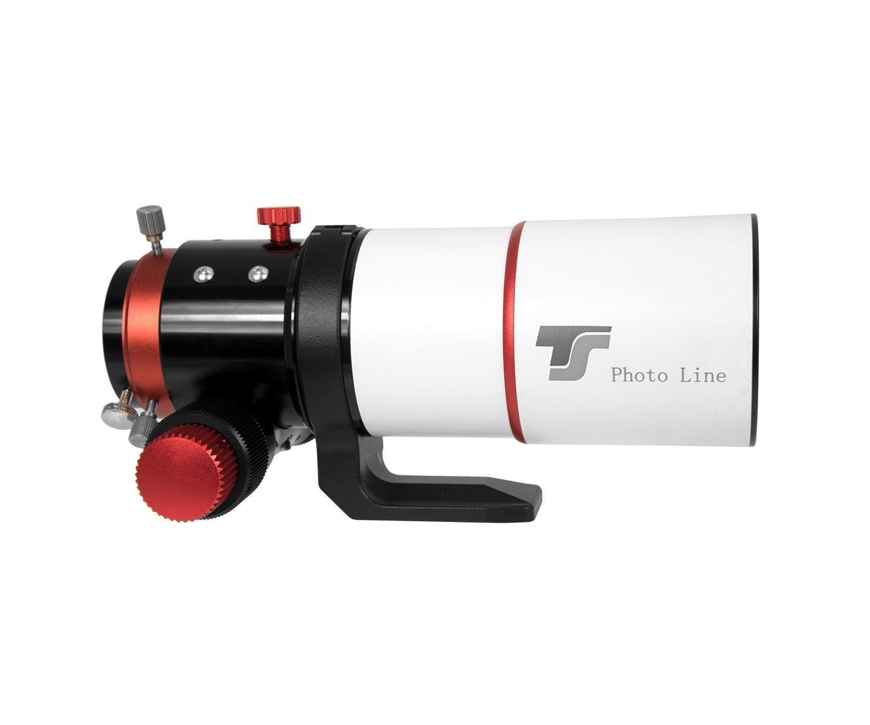 """TS-Optics rifrattore apocromatico Photoline FPL-53 60mm f/6- Focheggiatore da 2"""" R&P - dettagli in rosso"""