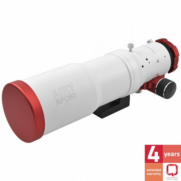 Doppietto apocromatico in FPL-53 da 80mm e 500mm di focale, f/6,25