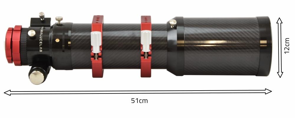 Tripletto apocromatico in FPL-53 da 90mm e 600mm di focale, f/6.7 - focheggiatore 50,8mm con messa a fuoco micrometricae bloccaggio OnAxisLock