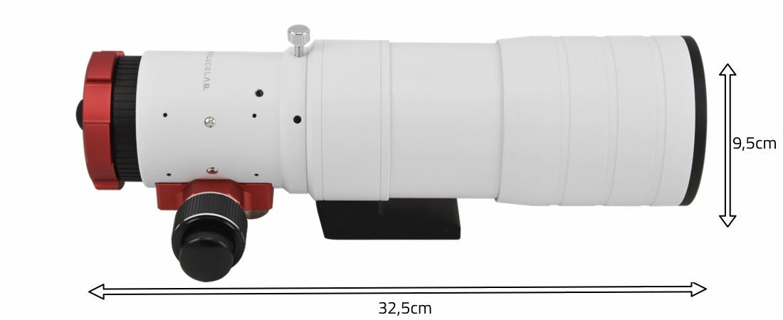 Doppietto apocromatico in FPL-51 da 72mm e 430mm di focale, f/6 - focheggiatore 50,8mm con messa a fuoco micrometrica