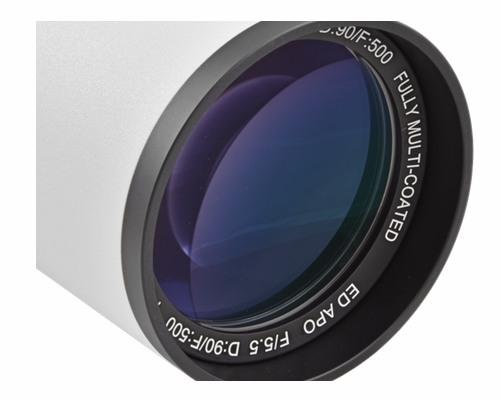 Doppietto apocromatico in FPL-51 da 90mm e 500mm di focale, f/5.5 - focheggiatore 50,8mm con messa a fuoco micrometrica