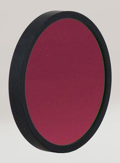 Filtro H-alpha ASHA12nm50Rda 12nm, diametro 50mm, per CCD - non montato in cella con anello di protezione