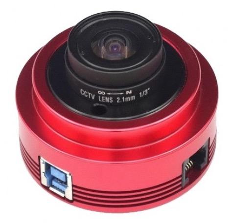ASI 120MM Mono - camera USB 3.0 - obiettivo T2 da 2,1mm - per riprese planetarie e autoguida