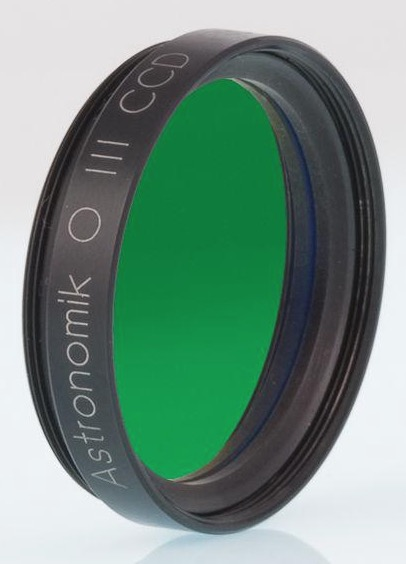 Filtro Astronomik ASO3CCD1 da 12nm – per CCD OIII - diametro 31,8mm montato in cella