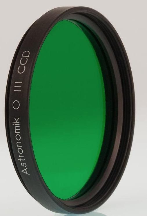 Filtro Astronomik da 12nm – per CCD OIII - diametro 50,8mm montato in cella