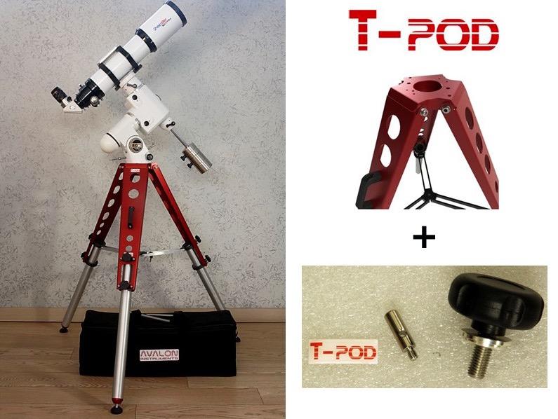 Kit di aggancio per treppiedi T-POD 110/130 su montature EQ6